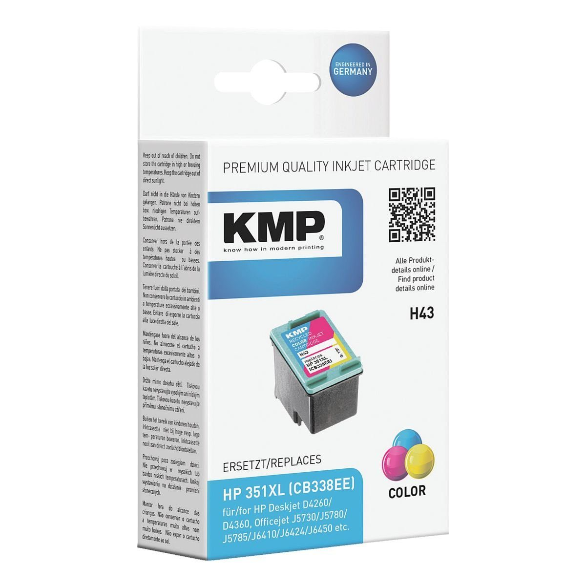 KMP Tintenpatrone ersetzt HP »CB338EE« Nr. 351XL