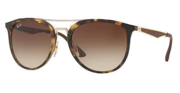 RAY BAN RAY-BAN Sonnenbrille » RB2448N«, braun, 710 - braun/braun