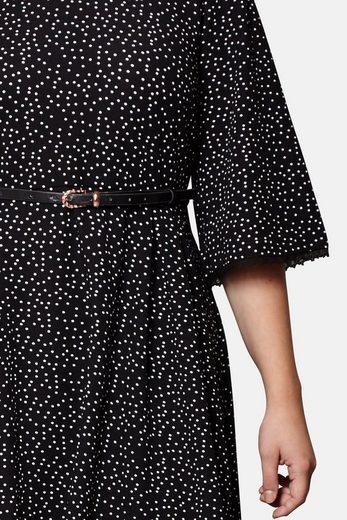 Yumi Curves Druckkleid Michelle, mit Punkte-Muster und Faltenrock