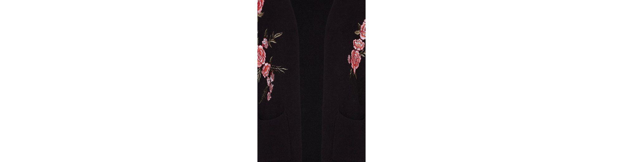 Yumi Cardigan Floral bestickter Cardigan, mit floralen Stickereien