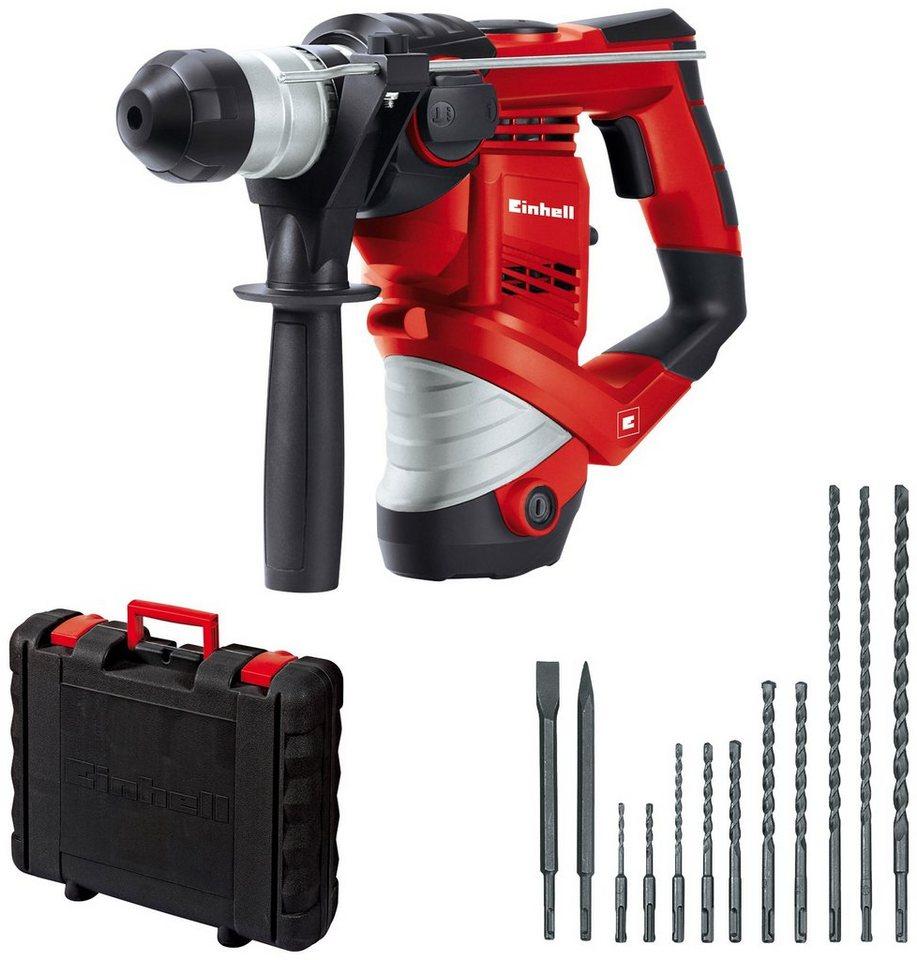 einhell bohrhammer »tc-rh 900 kit«, inkl. 12-tlg. bohr/meißelset