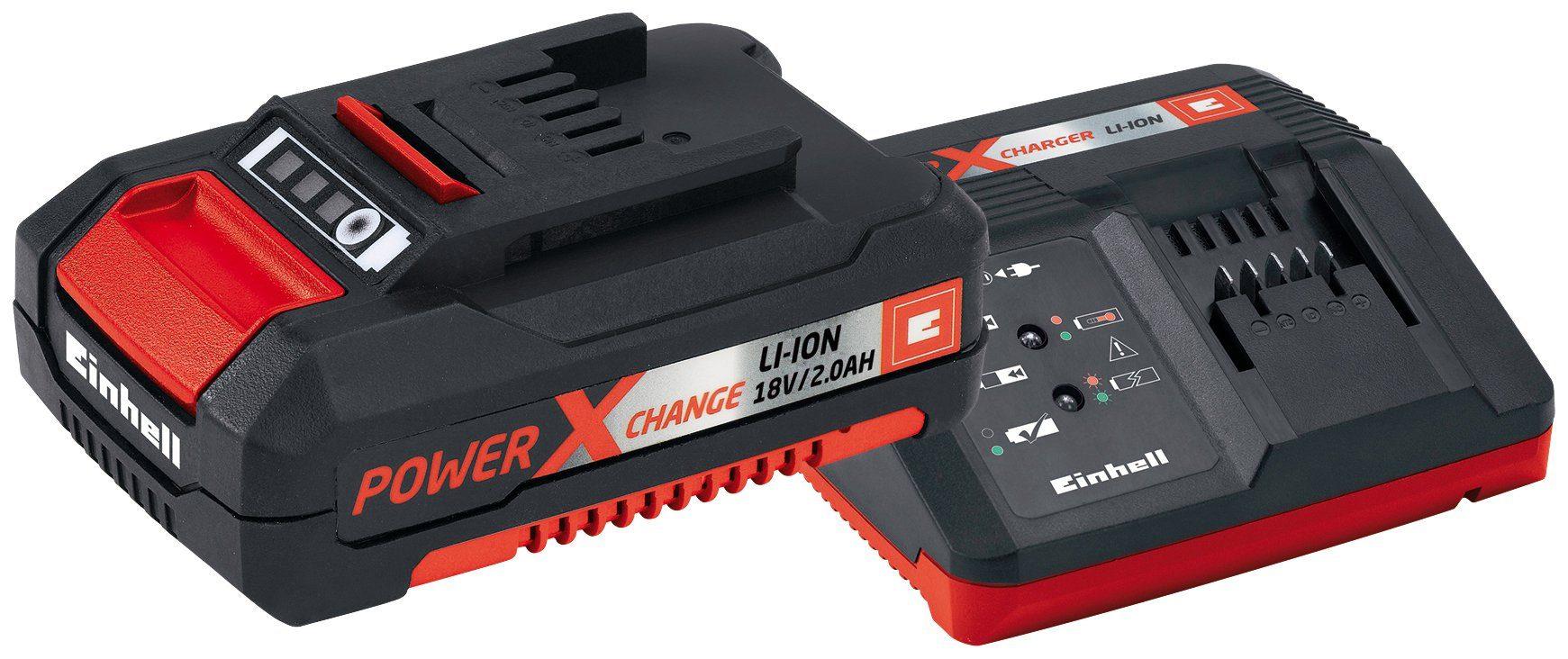 EINHELL Akku-Set »Starter-Kit Power X-Change «, 18 V, 2 Ah und Ladegerät