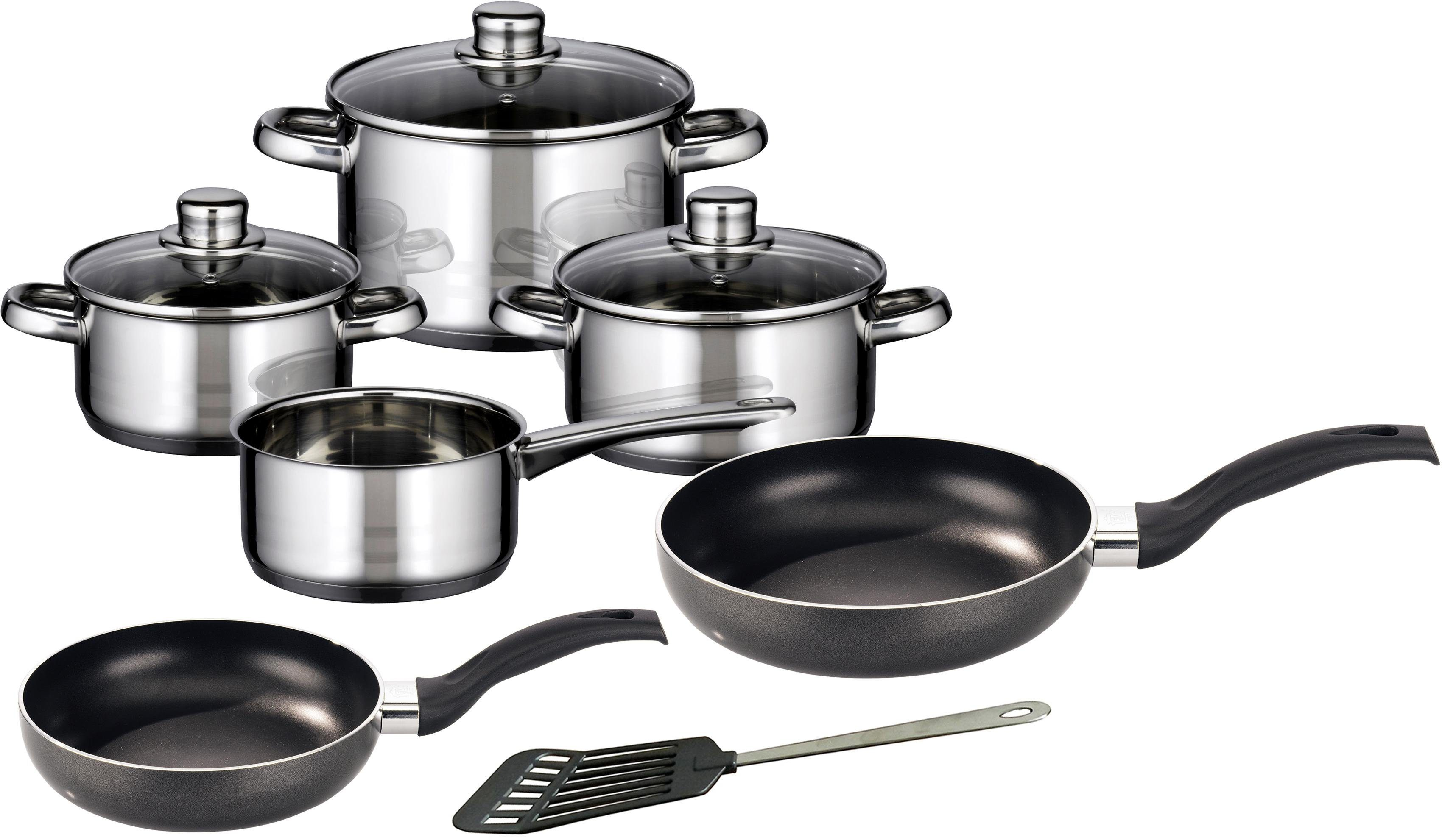 Meine Küche Topf-Set, 7-teilig, + Pfannen-Set, 2-teilig, Pfannenwender, Induktion, »Skyline«