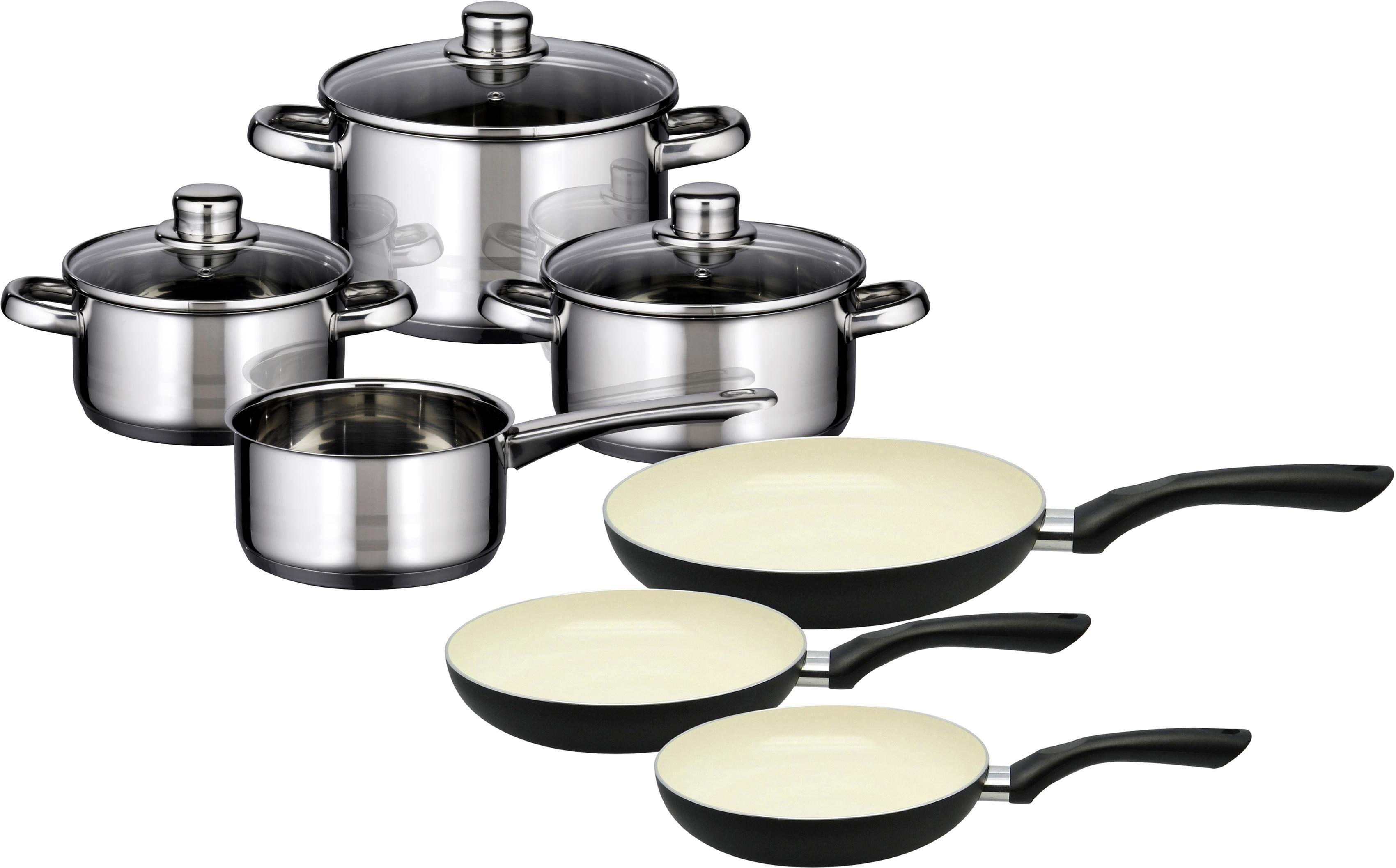 Meine Küche Topf-Set, 7-teilig, + Pfannen-Set, 3-teilig, Induktion, »Skyline«