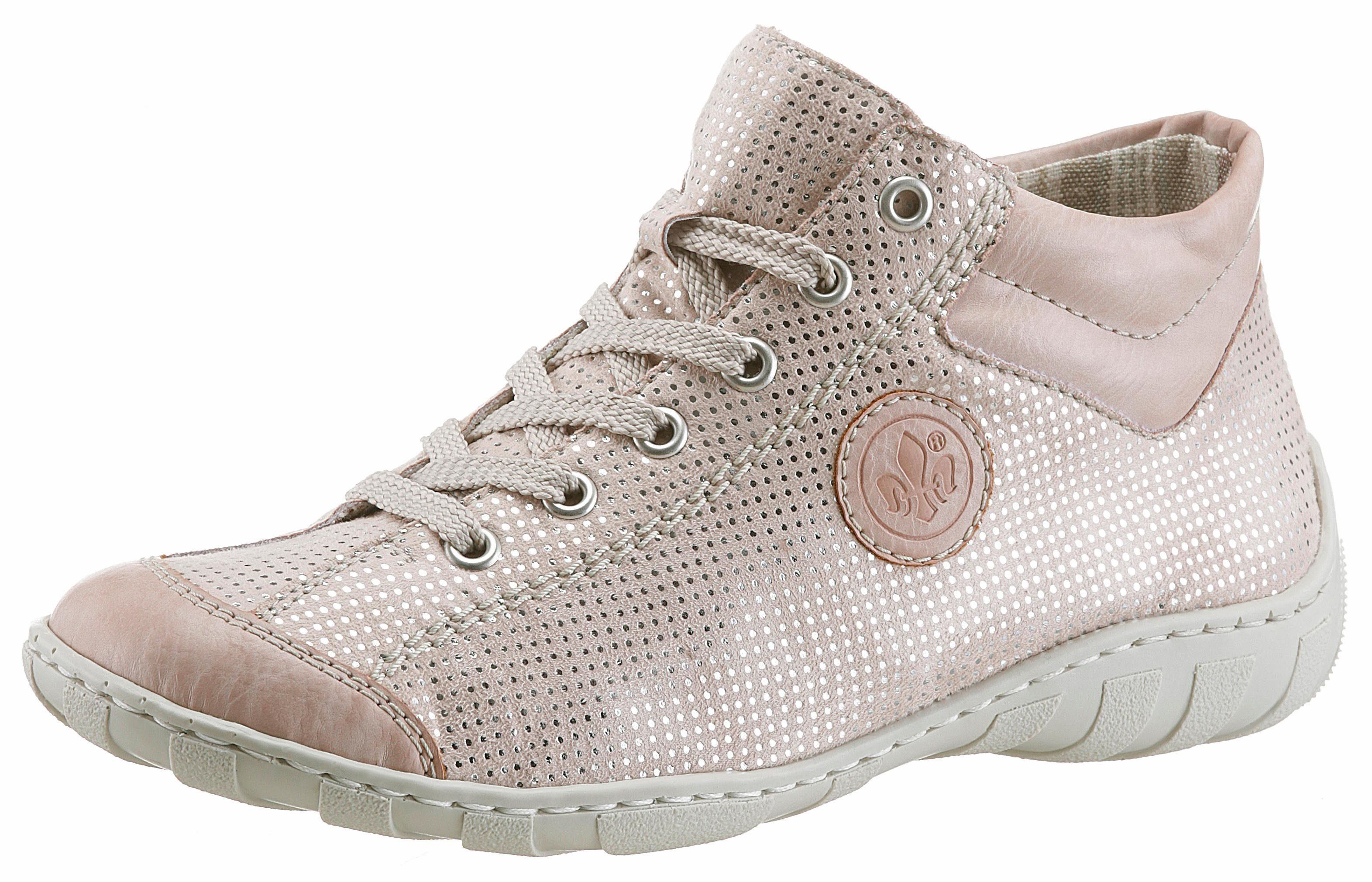 Rieker Sneaker, mit Perforation online kaufen  rosé-silberfarben