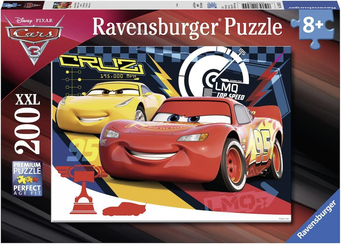 Ravensburger Puzzle, 200 XXL Teile, »Disney Pixar Cars 3 - Quietschende Reifen«
