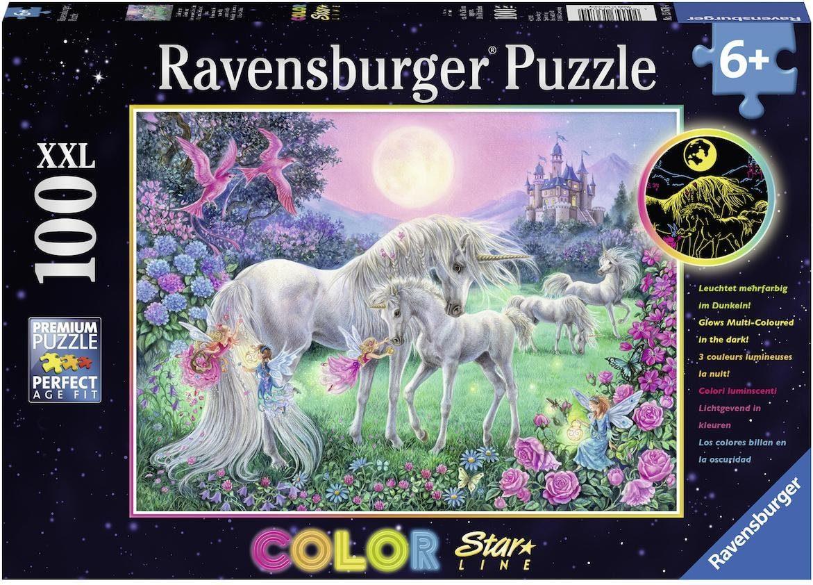Ravensburger Puzzle, 100 XXL Teile fluoresziert im Dunkeln, »Color Star Line«