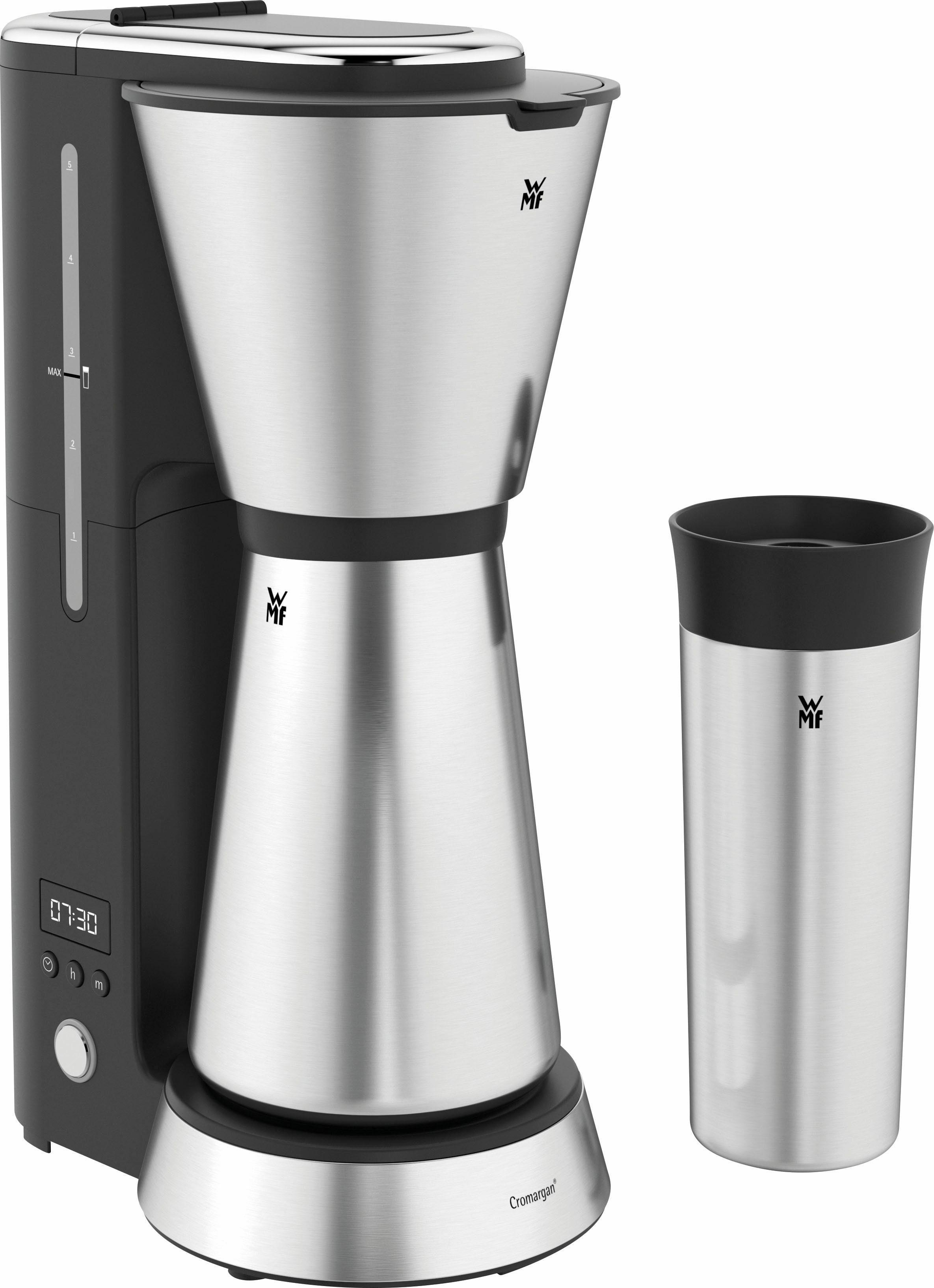 WMF Filterkaffeemaschine WMF KÜCHENminis® Aroma Kaffeemaschine Thermo to go, 0,65l Kaffeekanne, Papierfilter 1x2