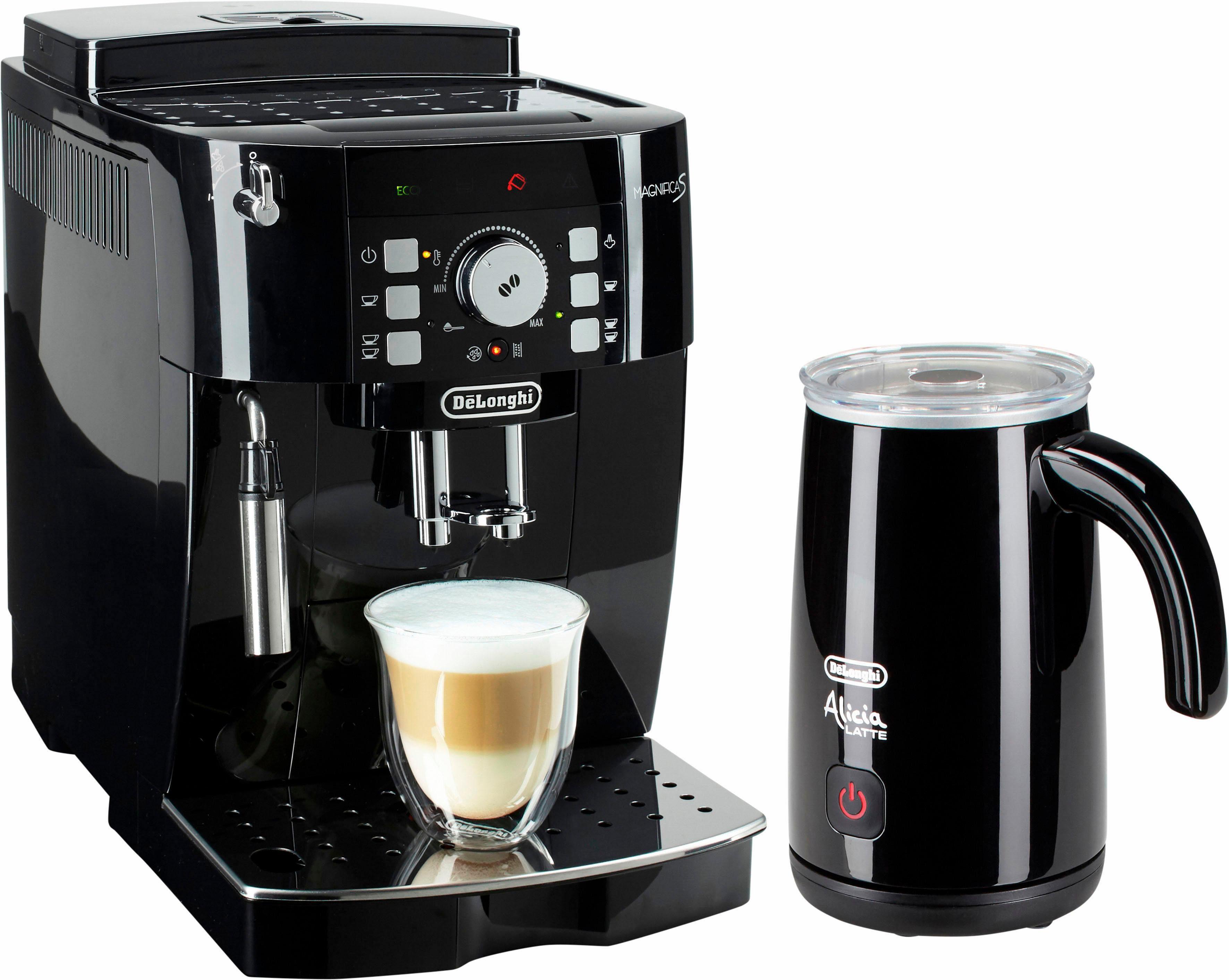 De'Longhi Kaffeevollautomat ECAM 21.118.B, 1,8l Tank, Kegelmahlwerk, inkl. Milchaufschäumer im Wert von UVP 89,99
