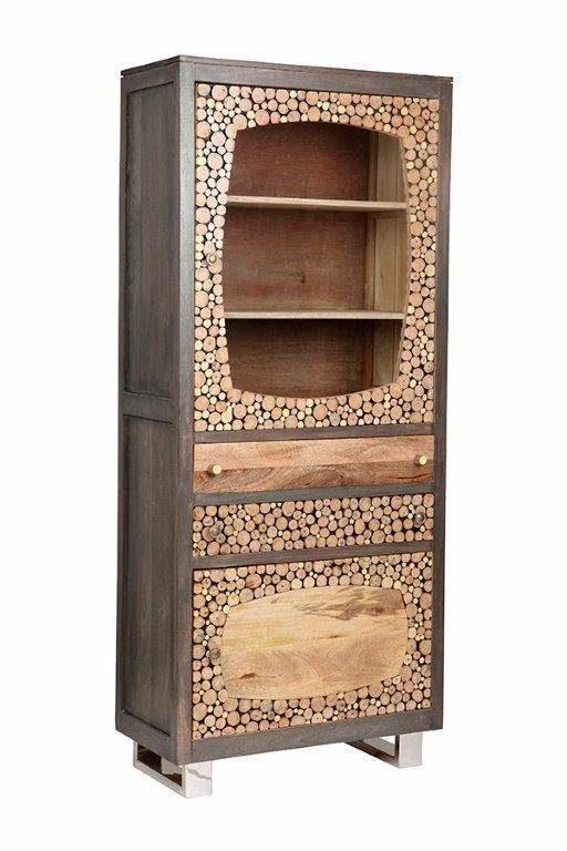The Wood Times Stauraumvitrine mit zwei Türen »Texas«, Höhe 188 cm