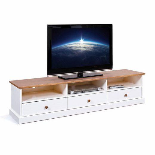 Home affaire TV-Board »Westerland«, mit drei Schubladen, Breite 180 cm