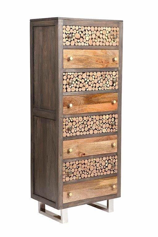The Wood Times Kommode mit acht Schubladen »Texas«, Breite 58 cm