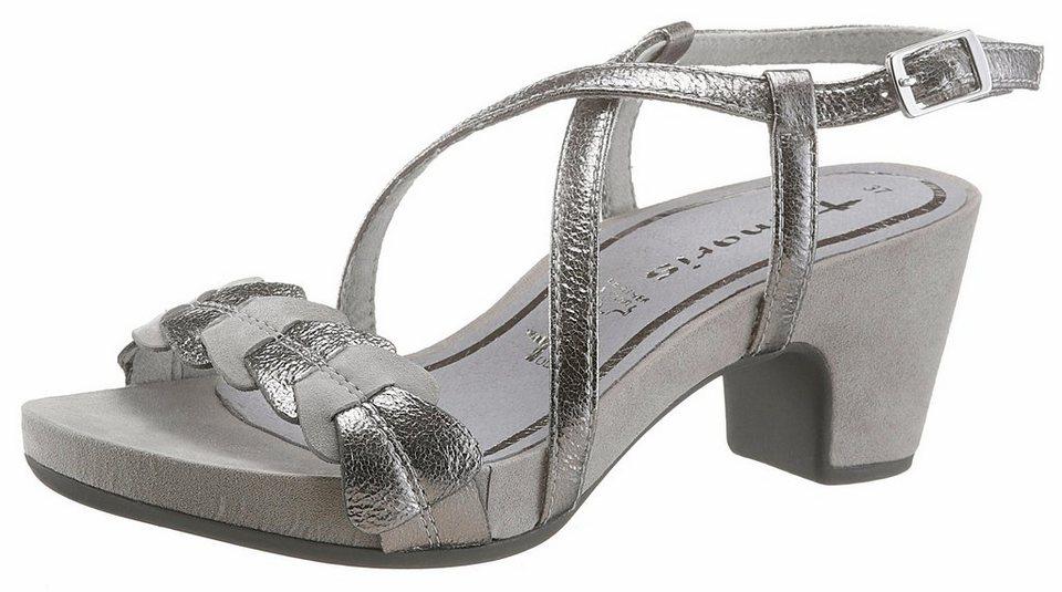 07f3b88caf273f Tamaris Sandalette in Metallic-Optik online kaufen