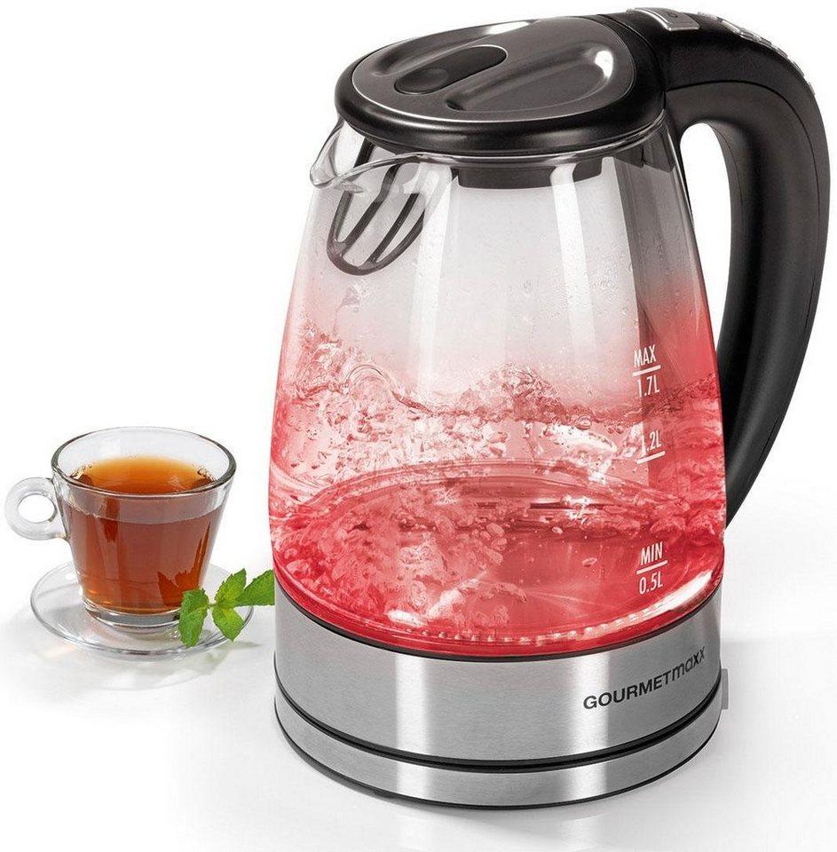 gourmetmaxx wasserkocher glas led temperaturwahl 1 7 l 2000 w glas led temperaturwahl online. Black Bedroom Furniture Sets. Home Design Ideas
