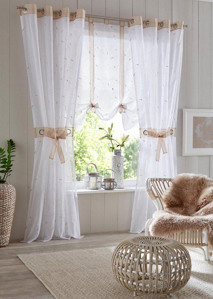 gardine jaca home affaire sen 2 st ck inkl. Black Bedroom Furniture Sets. Home Design Ideas