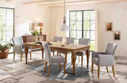 Premium by Home affaire Esstisch »Felix«, mit eckiger Tischplatte und gedrechselten Beinen