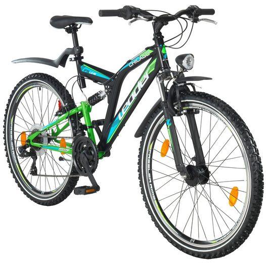 LEADER All-Terrain-Bike »Chicago«, 21 Gänge, schwarz-grün