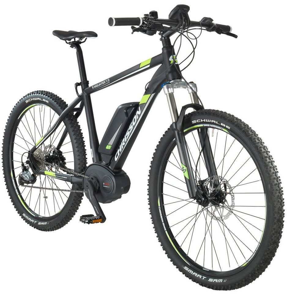 chrisson e bike mountainbike e mounter 27 5 zoll 48cm. Black Bedroom Furniture Sets. Home Design Ideas