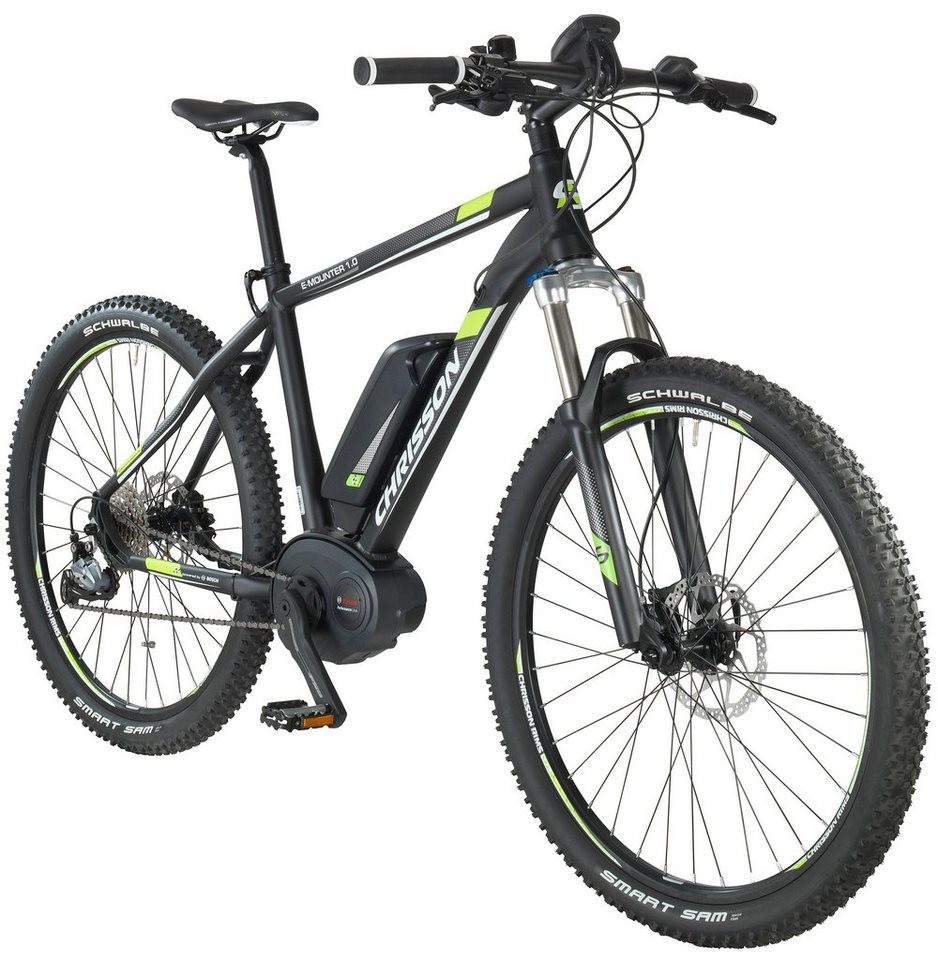 chrisson e bike mountainbike e mounter 27 5 zoll 52cm. Black Bedroom Furniture Sets. Home Design Ideas