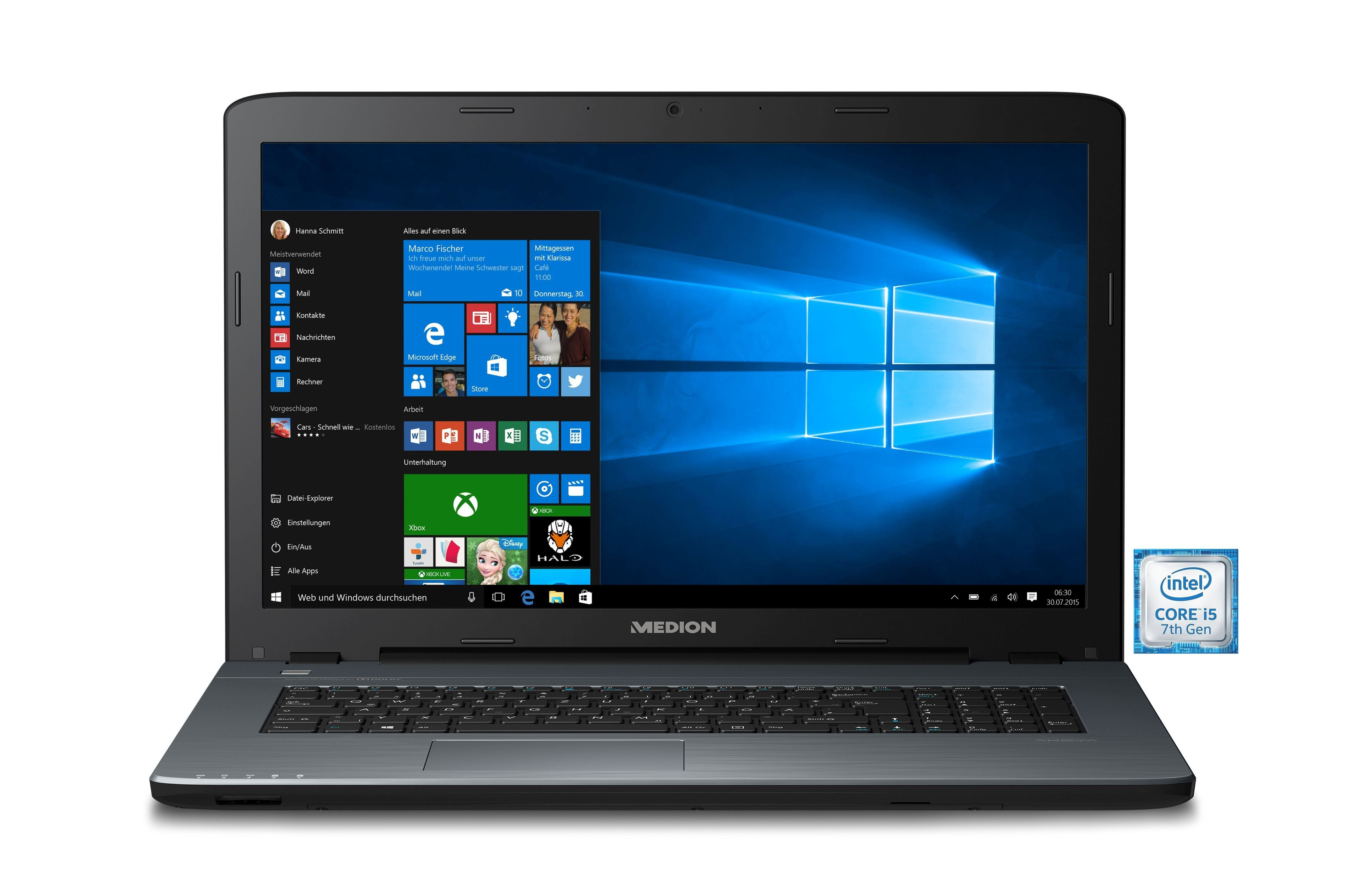 "MEDION® AKOYA P7645 (MD60610) Notebook »Intel Core i5, 43,9cm (17,3""), 128 GB + 1 TB, 8 GB«"