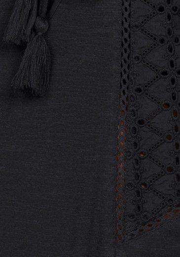 Roxy Jerseykleid ENCHANTED ISLAND, Durchbrochene Spitzeneinsätze