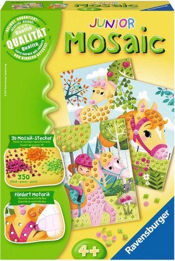 Ravensburger Kreativset »Mosaic Junior, Pferde«, (Set), Mit haptischen Elementen