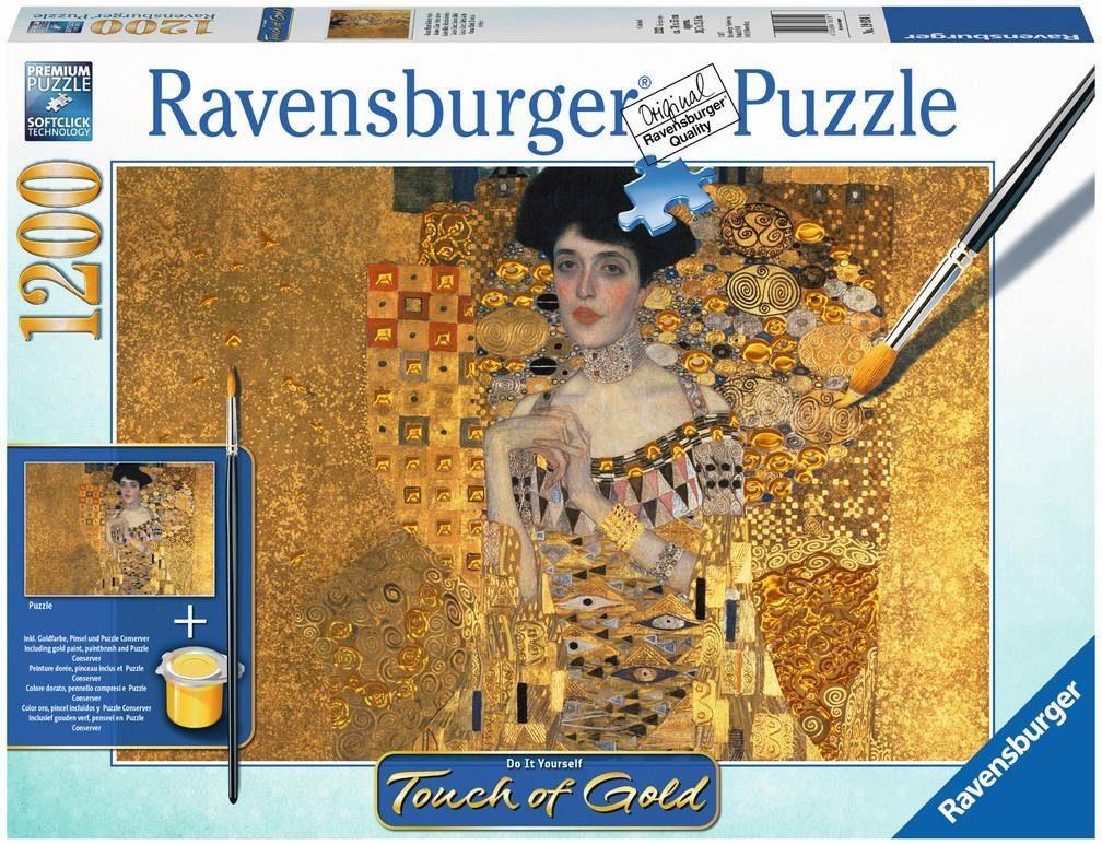Ravensburger Puzzle, 1200 Teile, »Touch of Gold, Gustav Klimt: Goldene Adele«