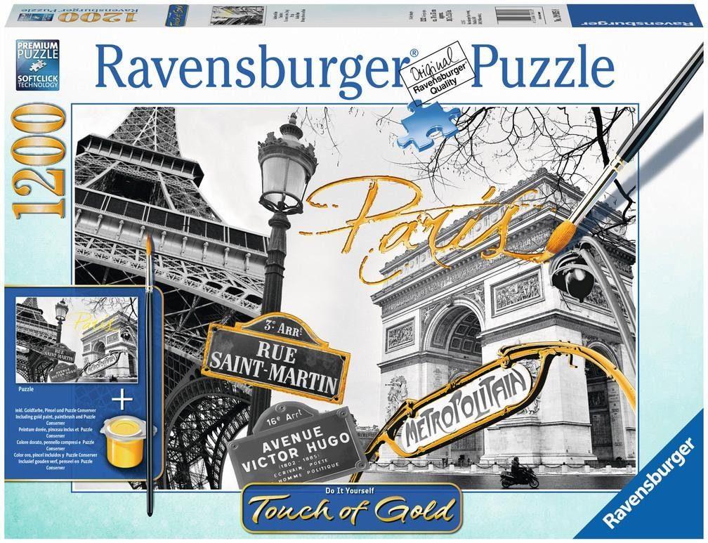 Ravensburger Puzzle, 1200 Teile, »Touch of Gold, Goldenes Paris«