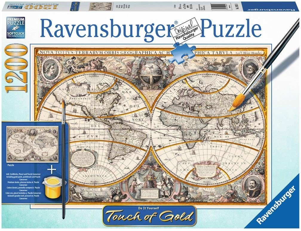 Ravensburger Puzzle, 1200 Teile, »Touch of Gold, Antike Welt«