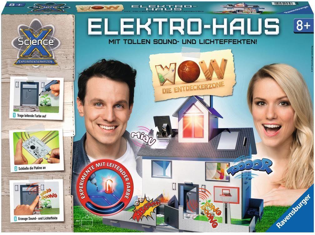 Ravensburger Experimentierkasten mit Sound und Lichteffekten, »WOW die Entdeckerzone, Elektrohaus«