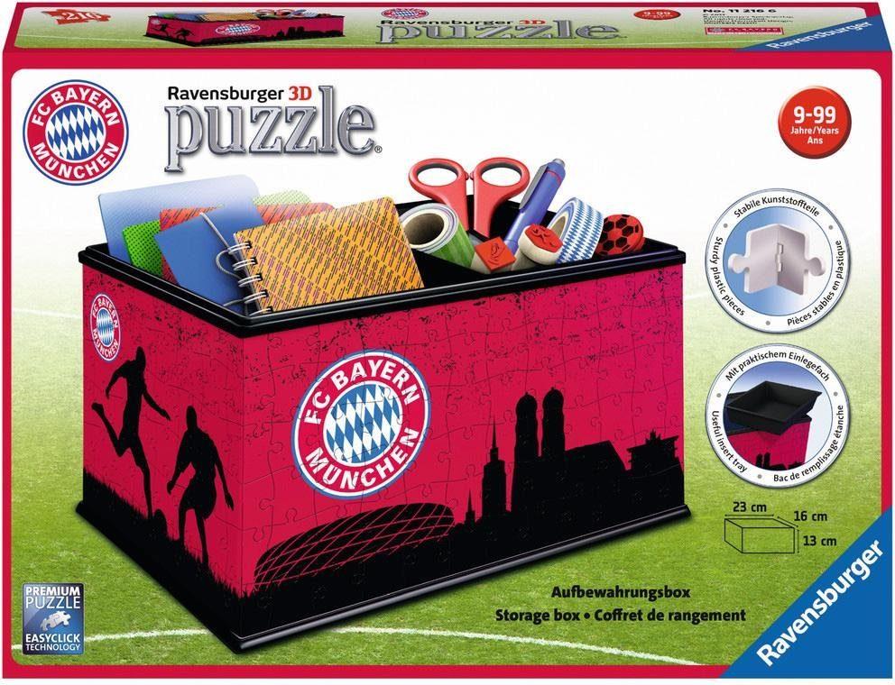 Ravensburger 3D Puzzle, 216 Teile, »Aufbewahrungsbox FC Bayern München«
