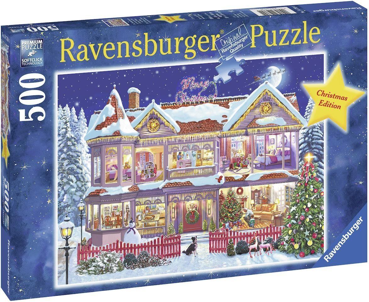Ravensburger Puzzle, 500 Teile, »Das Weihnachtshaus«