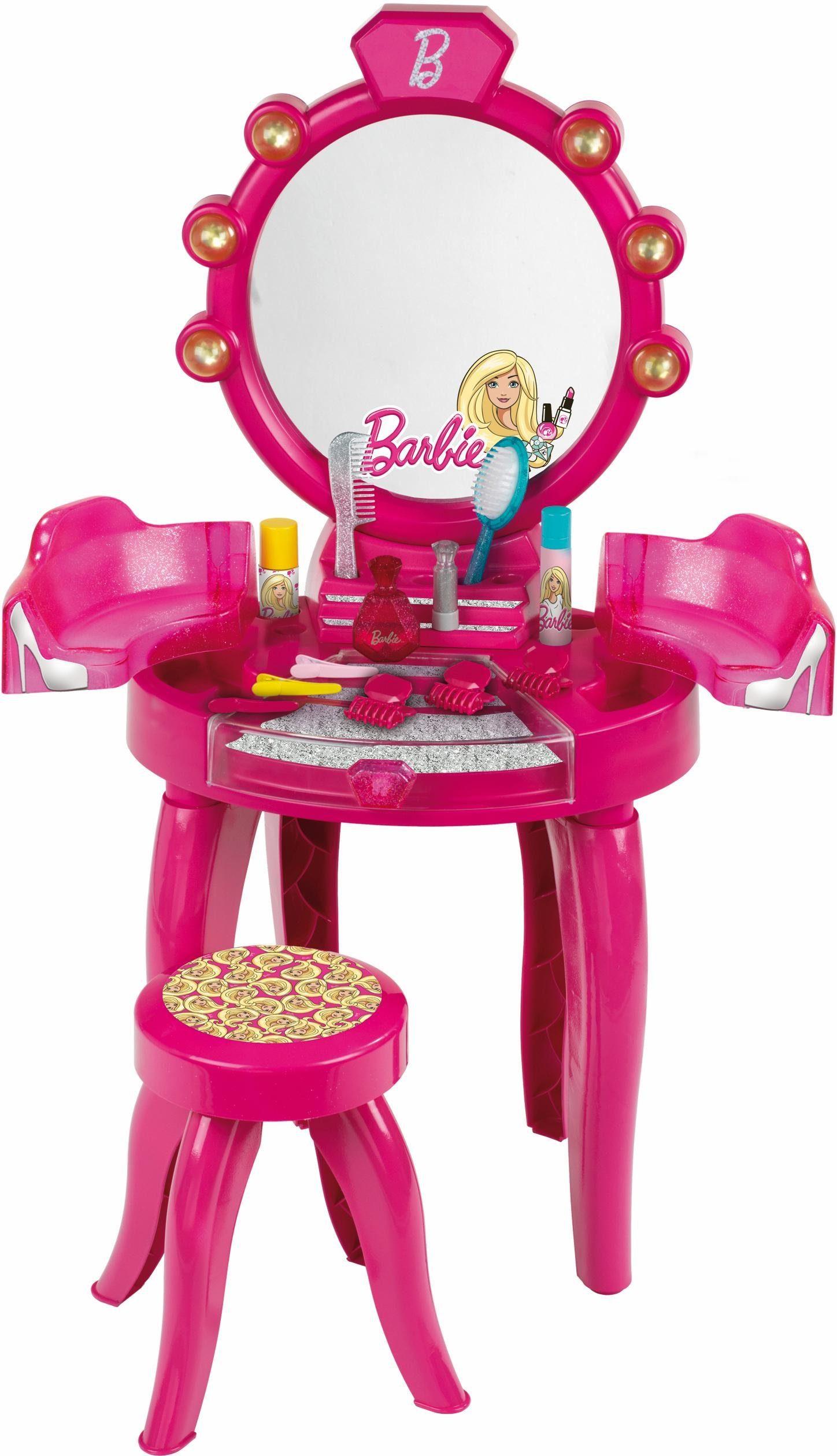 Klein Kinder Frisiertisch, »Barbie Schönheitsstudio mit Hocker«