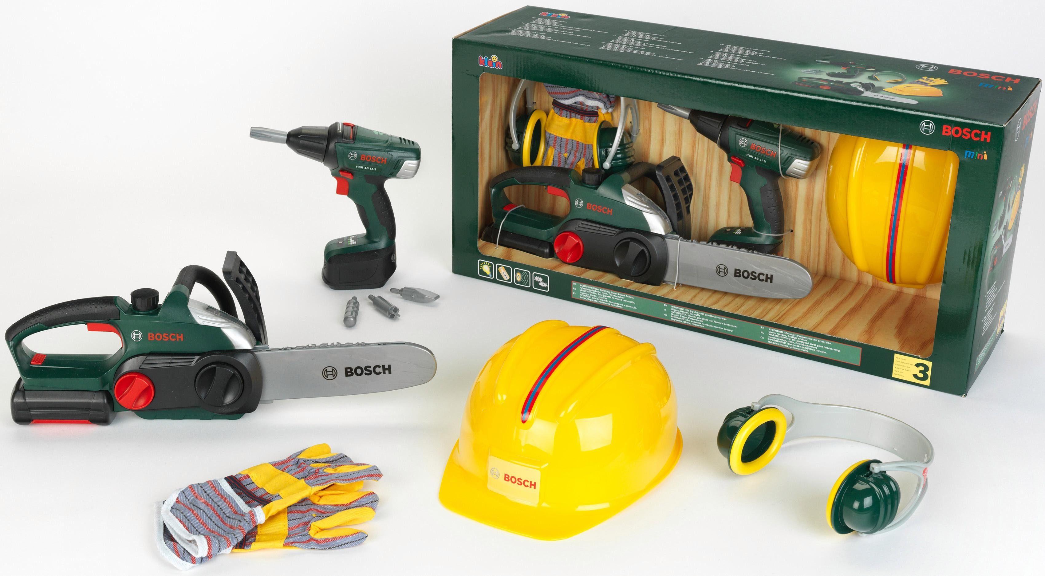 Klein Kinder Bauarbeiter Werkzeug, »Bosch Bauarbeiter Set«