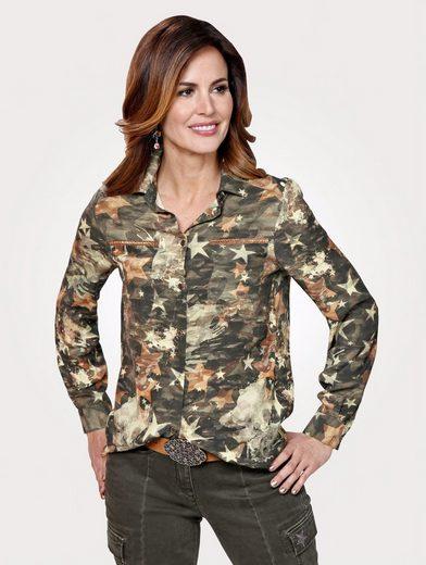 Mona Bluse mit modischem Camouflage-Druck