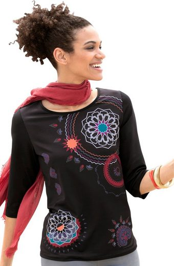 Classic Basics Shirt mit dekorativem Druck