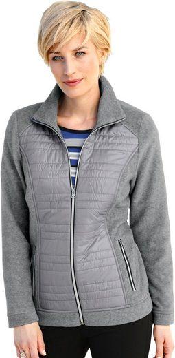 Collection L. Fleece-Jacke mit Stehkragen