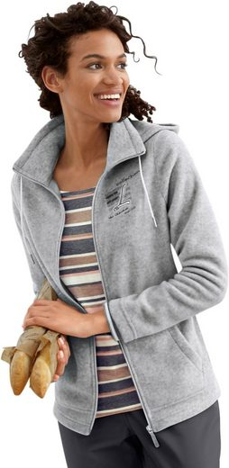 Collection L. Fleece-Jacke im brandaktuellen College-Look