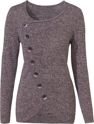 Classic Basics Pullover mit modischer Frontpartie