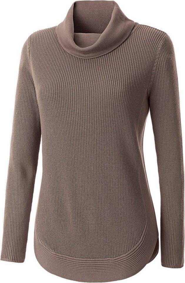 Damen Collection L. Pullover im schönen Strickmuster braun | 08859191061022