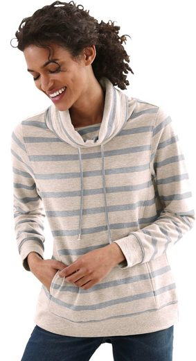 Collection L. Sweatshirt mit Kordeldurchzug