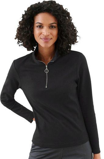 Collection L. Shirt mit silberfarbenem Metall-Reißverschluss