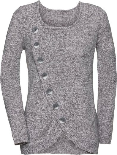 Classic Basics Sweater With Fashionable Anterior Section