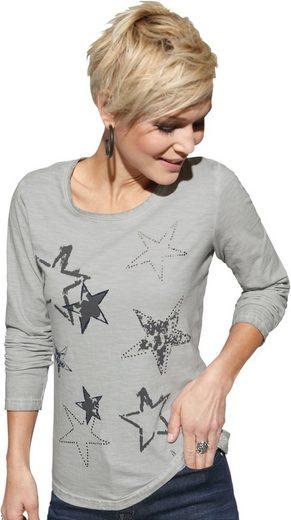 Collection L. Shirt mit platziertem Sternendruck