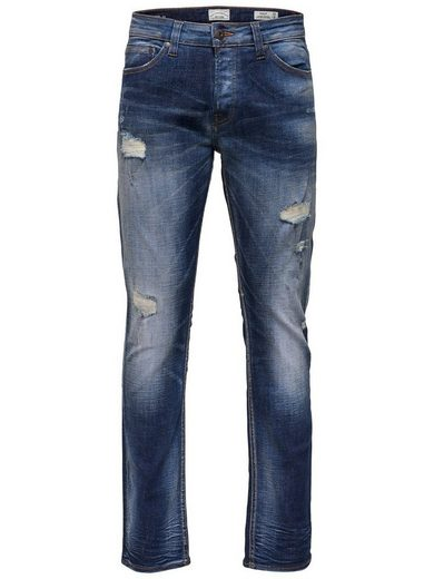 ONLY & SONS Weft dark blue breaks Slim Fit Jeans