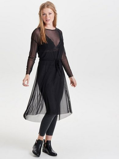 Jacqueline De Yong Mesh Dress With Long Sleeves