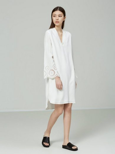 Selected Femme Viscose Dress With Long Sleeves