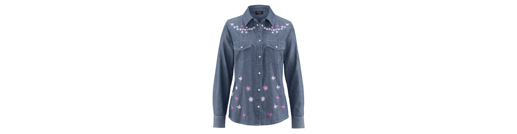 Paola Jeansbluse aus reiner Baumwolle Verkauf Perfekt Auslass Mit Paypal Freiem Verschiffen TJ7bVMFj