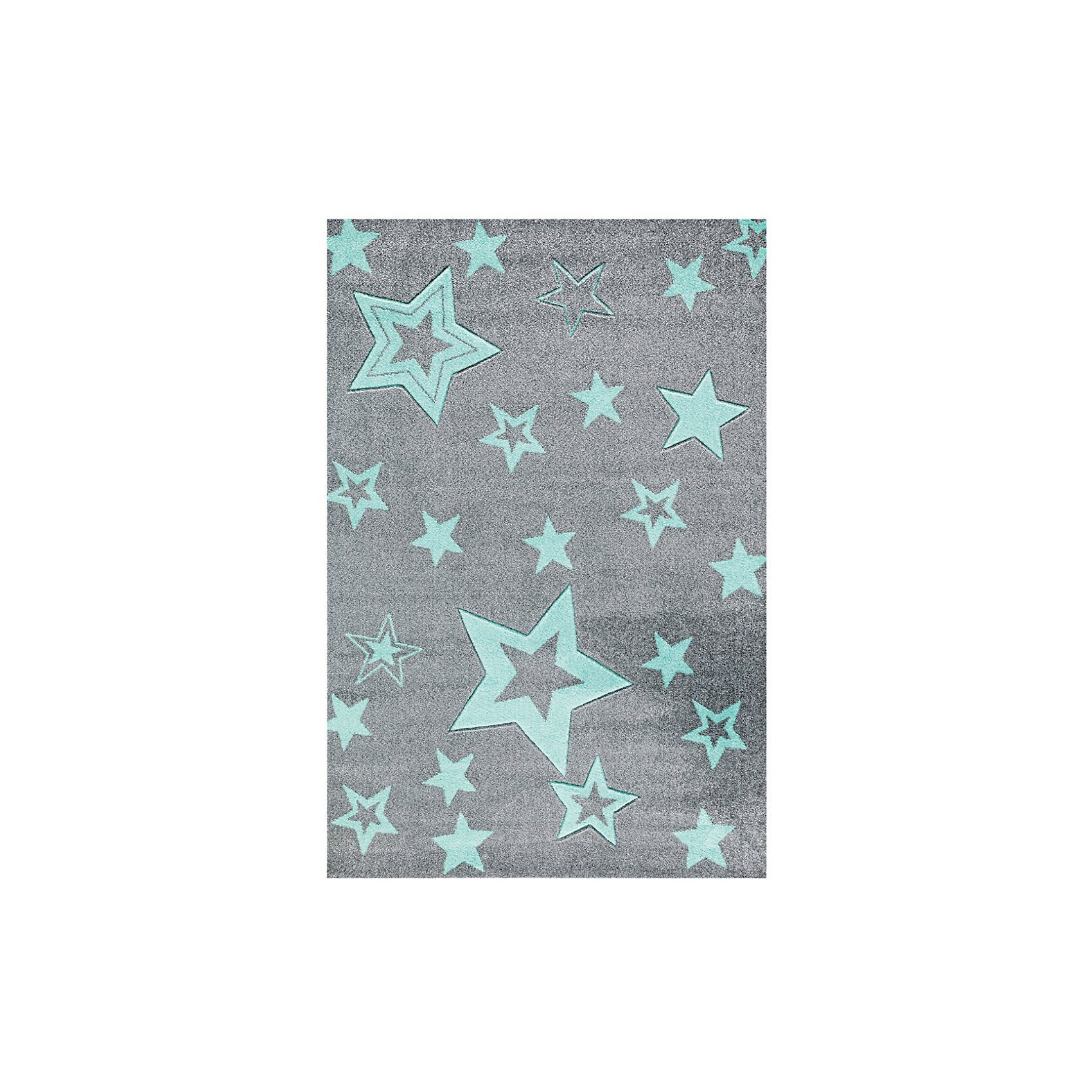 Happy Rugs Kinderteppich, STARLIGHT grau/mint | Kinderzimmer > Textilien für Kinder > Kinderteppiche | Happy Rugs