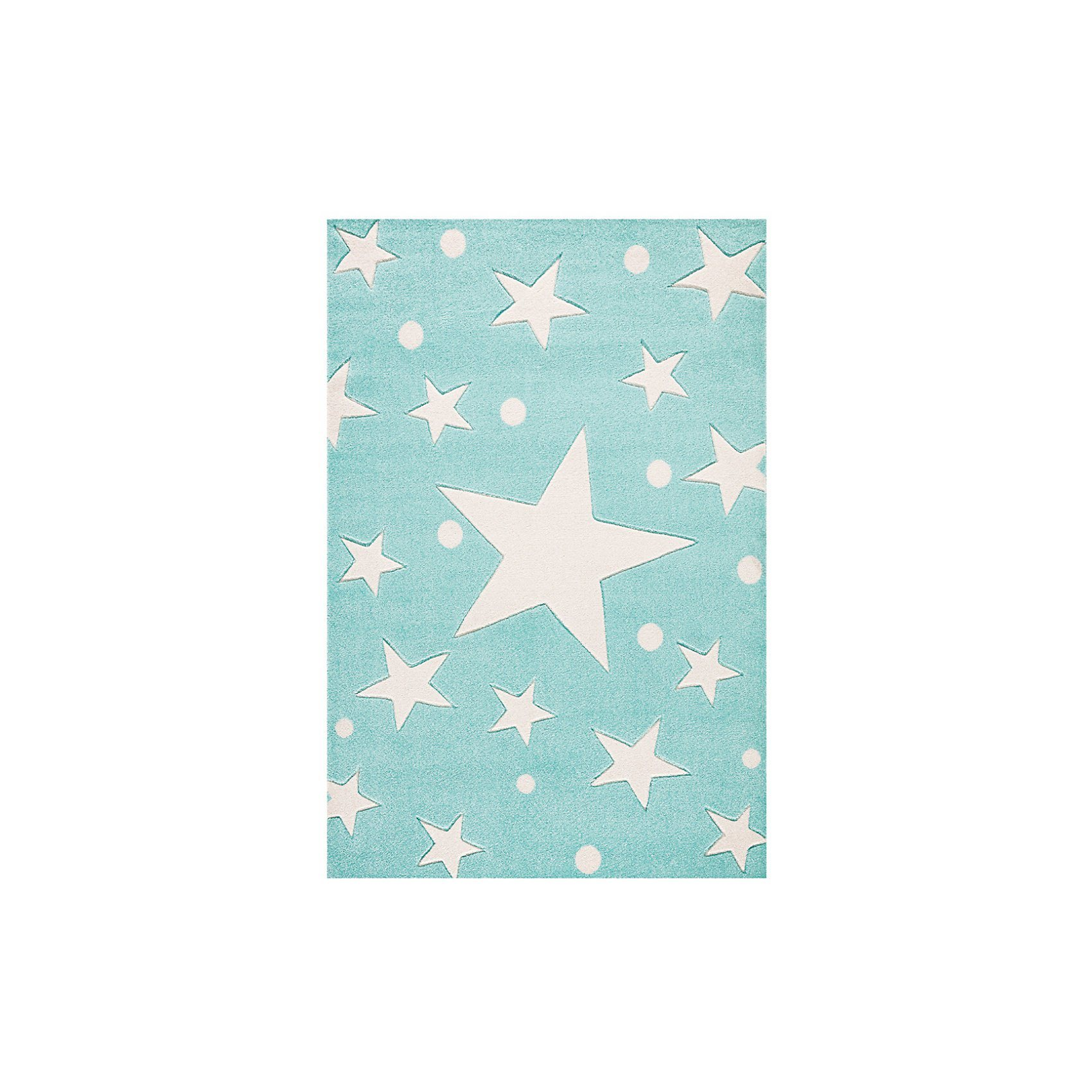 Happy Rugs Kinderteppich, STARS mint/weiss | Kinderzimmer > Textilien für Kinder > Kinderteppiche | Happy Rugs